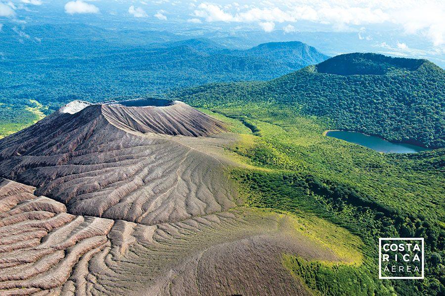 Rincon de la vieja aerial shot most touristic places in Costa Rica